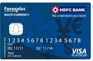 HDFC multi-currency platinum card