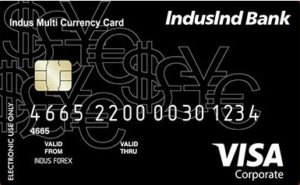 Indusind multi-currency Forex card