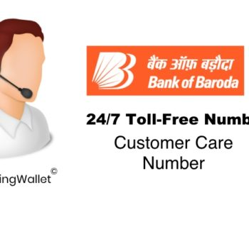 Bank of Baroda CREDIT CARD CUSTOMER CARE NUMBER