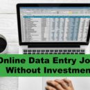 Online data entry jobs without investment daily payment.